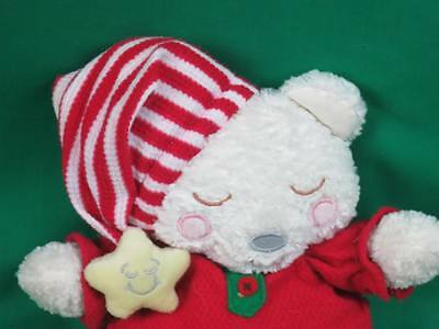 First & Main Baby Teddy Bear Bedtime Twas The Night Before Christmas Plush