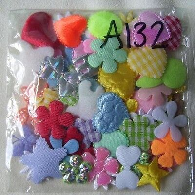 100 (Approx) Mixed Embellishments, Hearts, Flowers, More W:2Cm (A132)