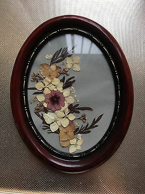 A Vintage Pressed Micro Wild Flowers Wall Plaque