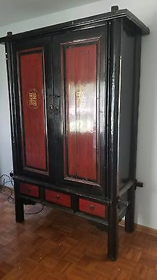 Antique Vintage  Armour Wardrobe dresser  with 3 drawers