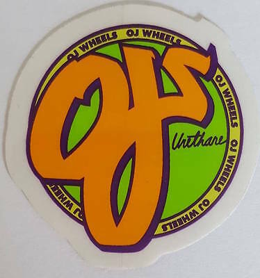 *** OJ Wheels - Skateboard Sticker - Logo - 4,5cm ***