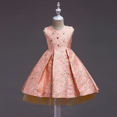 New Baby Kids Girls Party Formal Bridesmaid Lace Pageant Wedding Princess Dress