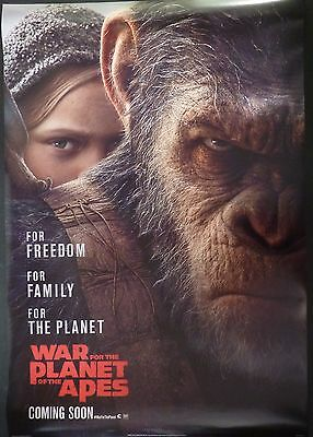 War For The Planet Of The Apes Original Cinema  2017 1 Sheet Poster Andy Serkis