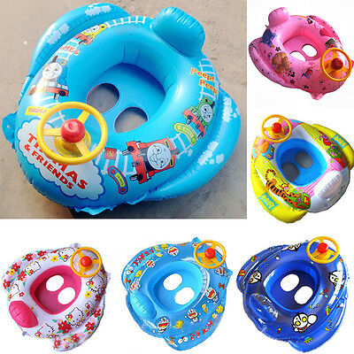 2017 New Inflatable Car Baby Kids Safety Swimming Pool Float Seat Boat Ring