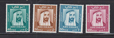 Abu Dhabi United Arab Emirates 1967 Mint MLH Definitives 4 values Amir Portrait