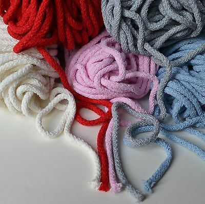 Soft 100% cotton cord 5.5 mm diameter 5 colours - crocheting, bags, pads, rugs