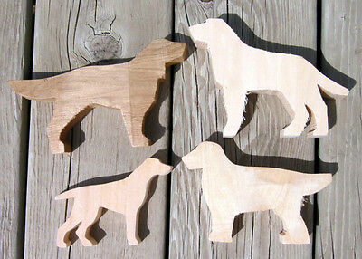 4 Dog Wood Carving Cutouts Blanks Retriever Setter Basswood Blanks Pattern Carve
