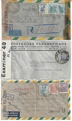BRAZIL 1940s COLLECTION OF 10 WARTIME COVERS MOST W/CENSOR LABELS ALL TO US
