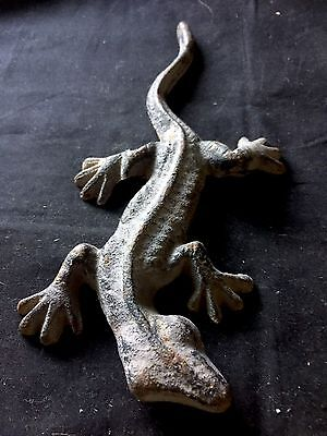 Cast Iron Long Indoor/outdoor Garden/home Decor Gecko Figure