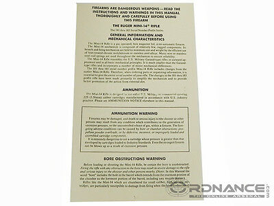 The Ruger Mini-14 Rifle Manual (Reprint)