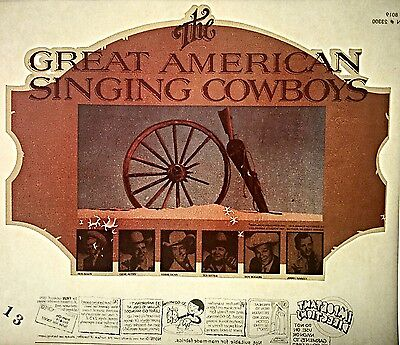 Vintage 1976 The Great American Singing Cowboys Iron On Transfer Rare!