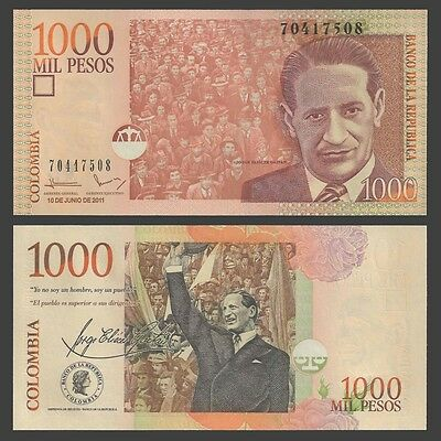 Colombia 1000 PESOS 10.6.2011 P 456n UNC OFFER !