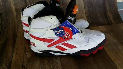 NEW Vintage Reebok The Pump Pro Pit Bull Football Shoes Size 13 White CLEATS