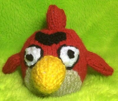 KNITTING PATTERN - Red Angry Bird inspired chocolate orange cover / 9 cms toy