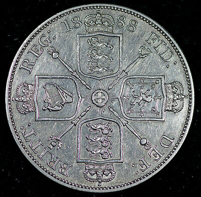 VICTORIA 1888 DOUBLE FLORIN 4/- Shillings