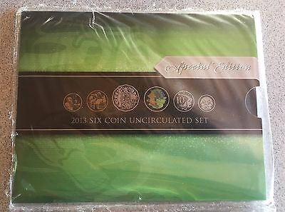 2013 Uncirculated Mint Set featuring the Coloured Twenty Cent .20c coin NUMBERED