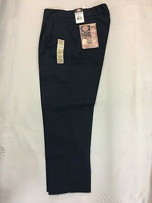 Men's 1868 DN style DICKIES Navy pleated  WORK PANTS  A few sizes left