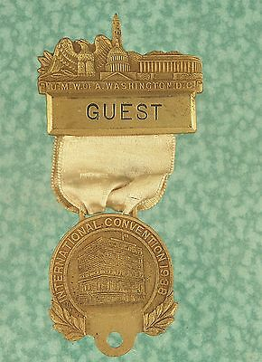 Vtg UMWA convention medal 1938 mining lot w261