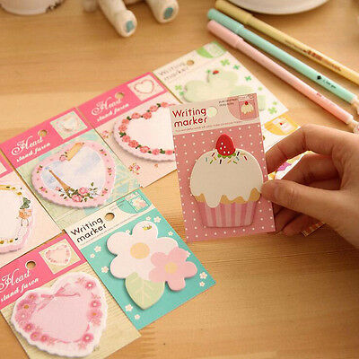 6X Sweet Cute Floral Cake Planner Memo Pads School Supplies Message Sticky Notes