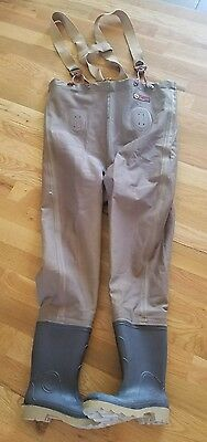 LaCROSSE DURALITE SUSPENDER FISH FISHING WADERS WATERPROOF PANTS BOOTS Mens 7