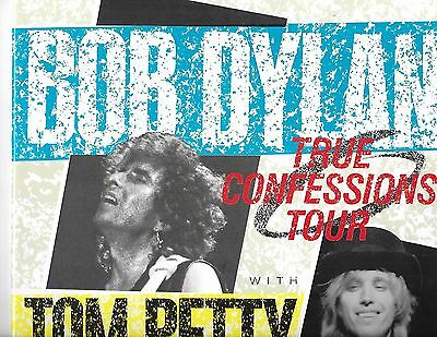 BOB DYLAN & TOM PETTY + HEARTBREAKERS 1986 TRUE CONFESSIONS 11x14 TOUR BOOK