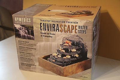 Homedics Envirascape Watersteps Tranquility Relaxation Decor Fountain Tabletop