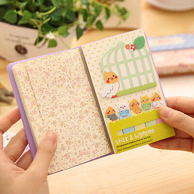 Cute Animal Cat Panda Sticky Notes Memo Pad School Supplies Planner Bookmarks