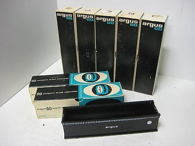 Lot Of 8 Argus 60 Capacity Slide Magazines # 567 7 Boxes