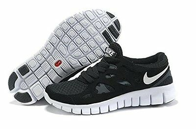 Nike Free Run 2.0 Size UK 6 EU 40 Black Men Trainers Running Shoes