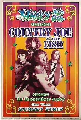 Country Joe & The Fish Whisky a Go Go 13x19 UNSIGNED Poster
