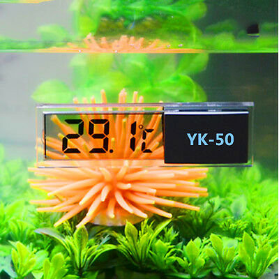LCD 3D Digital Electronic Measurement Fish Tank Aquarium Water Thermometer