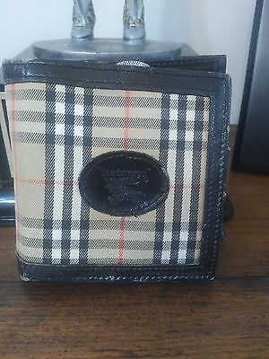 Vintage Burberry golfers wallet with cognac flask