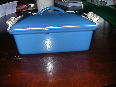 New Le Creuset Cast Iron Blue Enamel Covered Loaf Pan