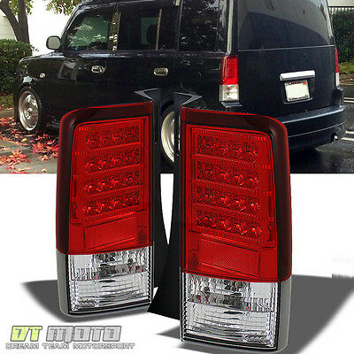 2004-2006 Scion Xb Bb Lumileds LED Red Clear Led Tail Lights Lamps Left+Right