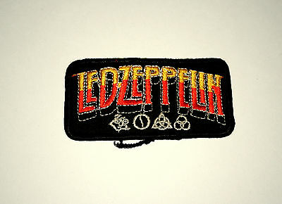 Vintage Led Zeppelin Rock Group Music Band Black Cloth Patch New NOS 1980s