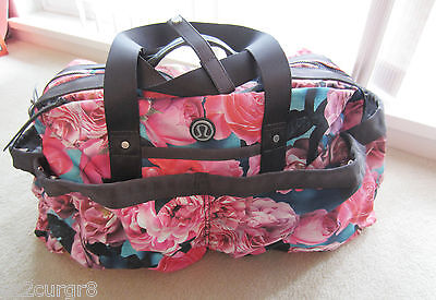 Lululemon Yoga On The Fly Duffel Tote Bag Secret Garden Floral RARE