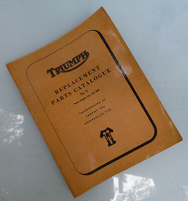 1964 Triumph Motorcycle Orig Factory Book Manual T120 Tr6 6T Trophy Bonneville