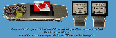 NISSAN QUEST CLUSTER LCD Display Repair Service