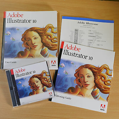 Adobe Illustrator 10 for MAC. New, Sealed CD with Serial Number and Manual.