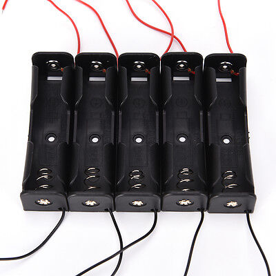5pcs Black Battery Storage Box Case Holder for 3.7V 18650x1 Batteries SEA
