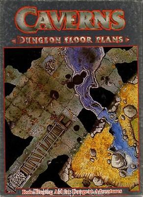 GW Dungeon Floor Plan Caverns (1986 Edition) Box VG