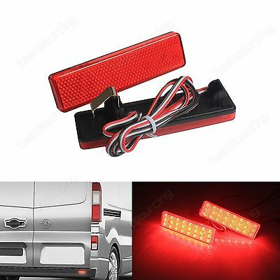 Renault Master Trafic Red LED Rear Bumper Reflector Signal Brake Tail Light Lamp