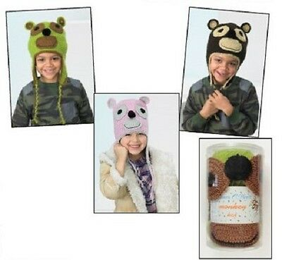 James C Brett Crochet Animal Hat kit, Monkey Design, Purple