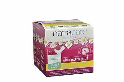 Natracare Ultra Extra Pads with Wings - Normal - 12 count