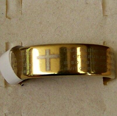 Lord's _ Prayer ~ S/steel  ~ Size:10~Ring -- (Great_Gift)