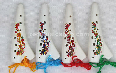 12 Hole Soprano C SUBMARINE Ocarina Ceramic Flute/Free Pouch/4 colors available
