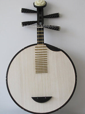 Professional Ebony Chinese Yueqin lute, Moon Guitar
