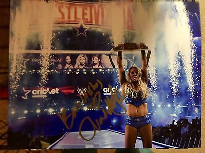 CHARLOTTE FLAIR AUTOGRAPHED 11x14 Photo NXT TNA wrestling SIGNED Wrestlemania