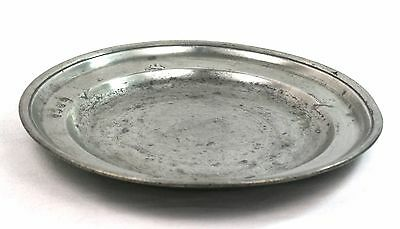 Antique 18th/19th Century Pewter Plate 25.5 cm Touchmarks Pseudo Hallmarks