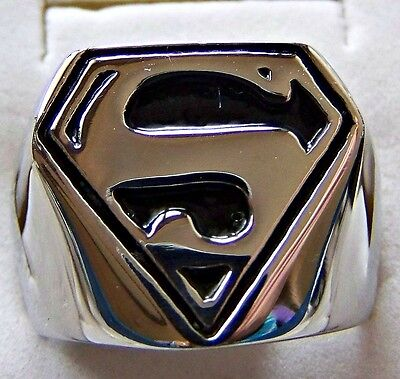 S _  For _  Superman  ~ S/steel ~  Size:9 ~Ring --- (Great_Christmas_Gift)